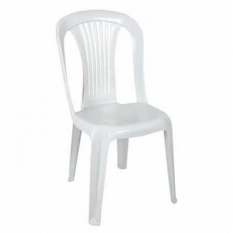 Beyaz Plastik Kolsuz Sandalye - plsk2025
