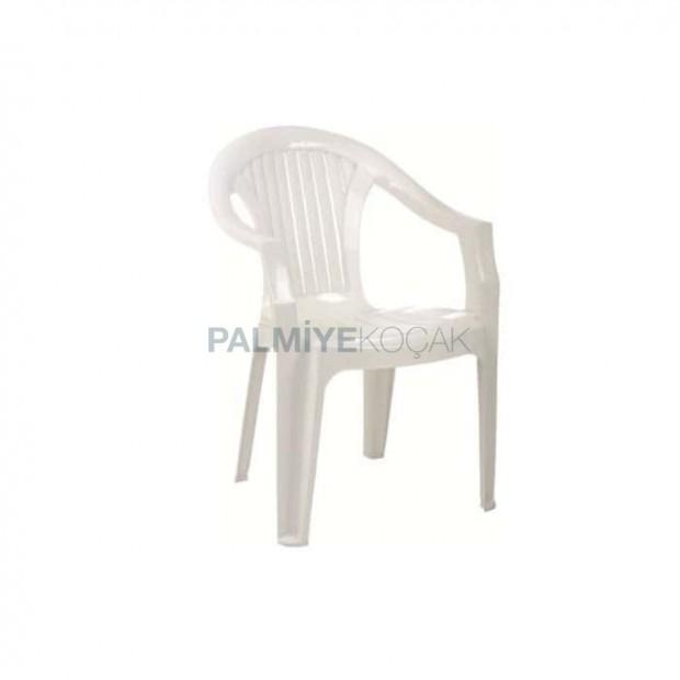White Color Cafe Tea Garden Plastic Army Chair
