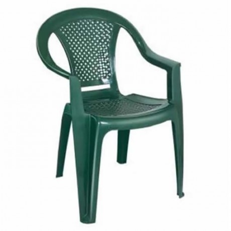Mesh Backrest Green Plastic Arm Chair - plsk2056