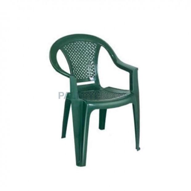 Mesh Backrest Green Plastic Arm Chair