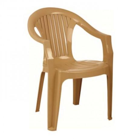 Kollu Restoran Ev Bahçe Plastik Sandalyesi - plsk3081