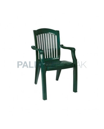 Luxury Plastic Armchair with Green Color