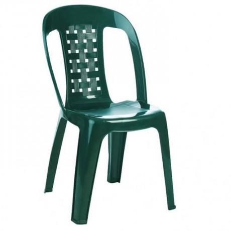 Yeşil Kolsuz Bahçe Sandalyesi - plsk3053
