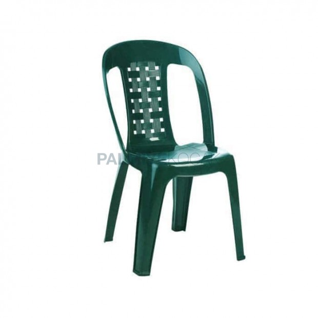 Green Armless Garden Chair