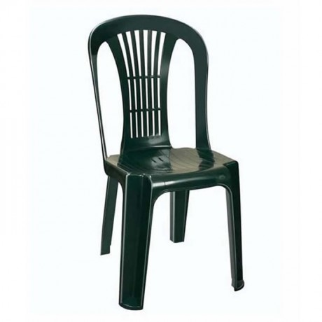 Green Plastic Garden Chair - plsk2022