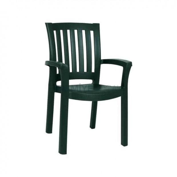 Green Plastic Cafe Restaurant Tea Garden Arm Chair