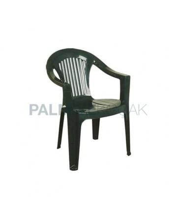 Yeşil Plastik Kollu Bahçe Sandalyesi