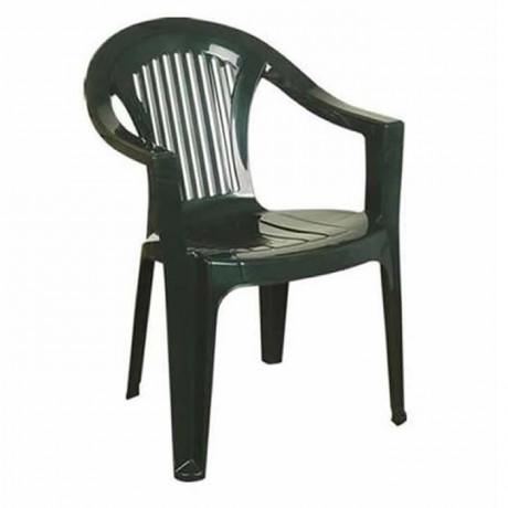Green Plastic Garden Arm Chair - plsk2051