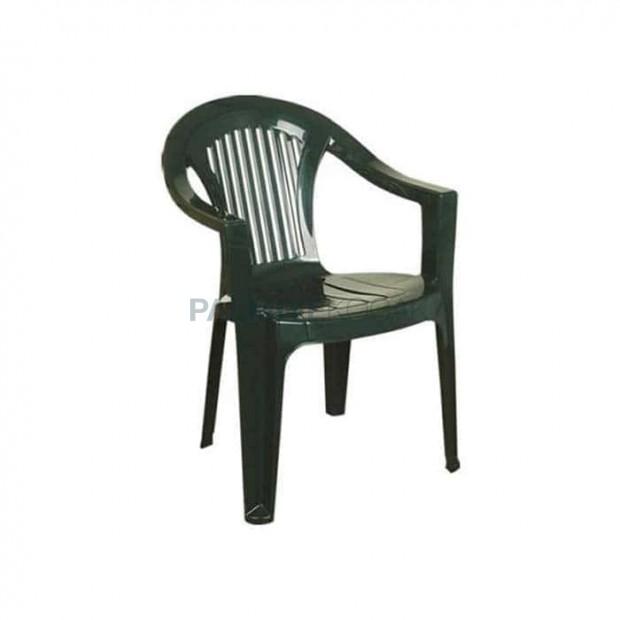 Green Plastic Garden Arm Chair