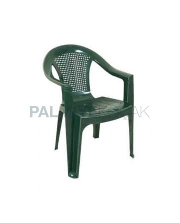 Green Plastic Armchair