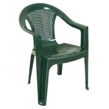 Yeşil Plastik Kollu Sandalye - plsk2058