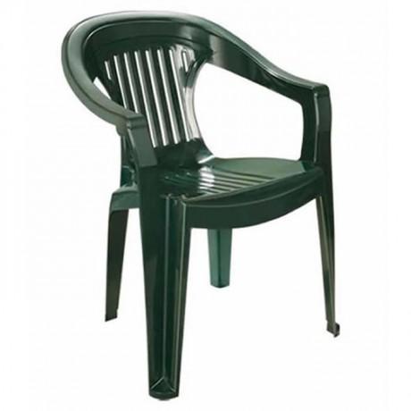 Yeşil Renkli Plastik Kollu Dernek Sandalyesi - plsk2055