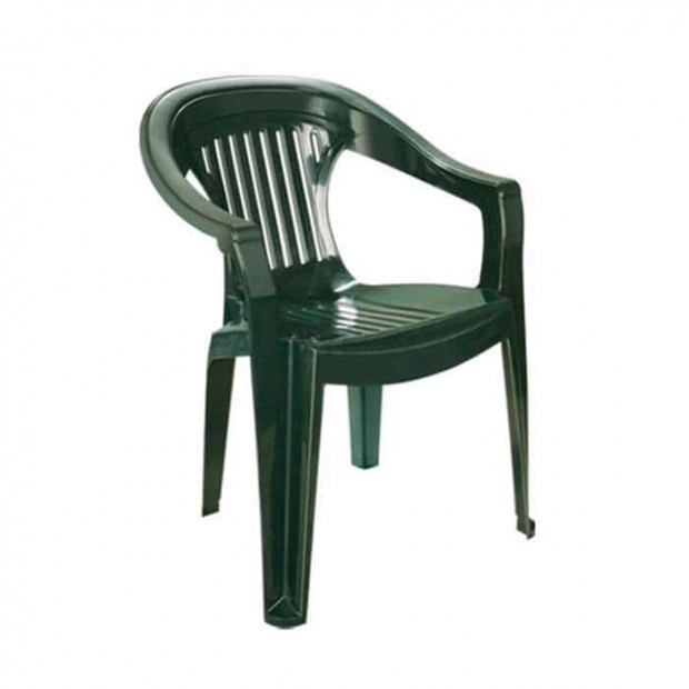 Green Colored Plastic Association Arm Chair