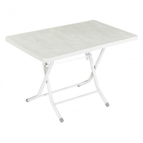 Beyaz Katlanır Ayaklı Beyaz Plastik Masa - pl20