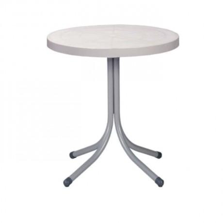 Beyaz Tablalı Plastik Yuvarlak Masa - pl10