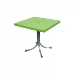 Peanut Green Metal Leg Plastic Table