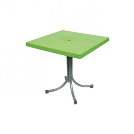 Peanut Green Metal Leg Plastic Table - pl636