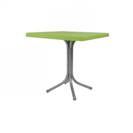 Green Plastic Table with Square Table Top - pl6568