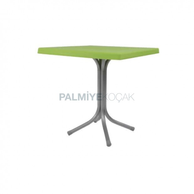 Kare Tablalı Yeşil Plastik Masa