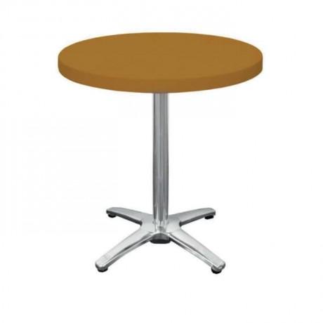 Sarı Plastik Yuvarlak Cafe Masası - pl13