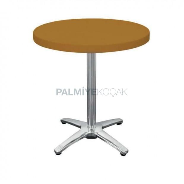 Sarı Plastik Yuvarlak Cafe Masası