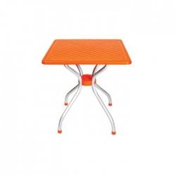 Orange Square Table Top Plastic Table