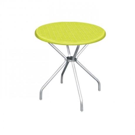 Green Round Plastic Garden Table - pl08