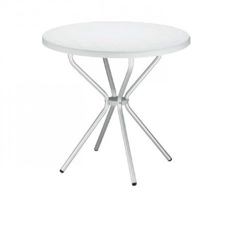 Round Plastic Cafe Table - pl11