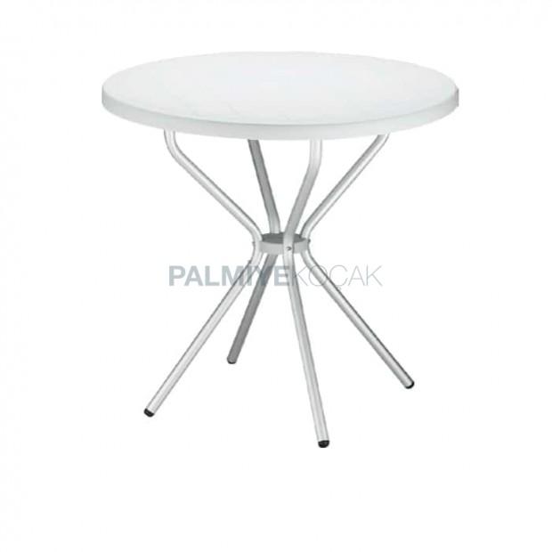 Yuvarlak Plastik Cafe Masası