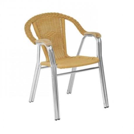 Plastik Örmeli Alüminyum Bahçe Sandalyesi - alg05