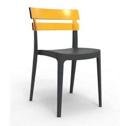 Anthracite Gray Plastic Shopping Center Restaurant Plastic Chair