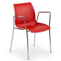 Dairesel Krom Ayaklı Propilen Enjeksiyon Ofis Cafe Sandalyesi