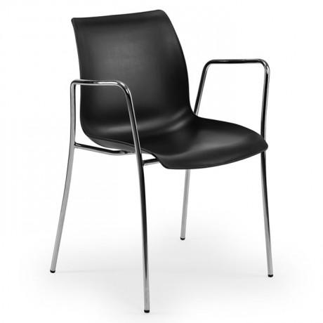 Dairesel Krom Ayaklı Propilen Enjeksiyon Ofis Cafe Sandalyesi - tps9916