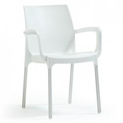 Anodized Aluminum Leg Glass Fiber White Plastic Chair
