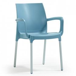 Anodized Aluminum Leg Glass Fiber Turquaz Plastic Chair