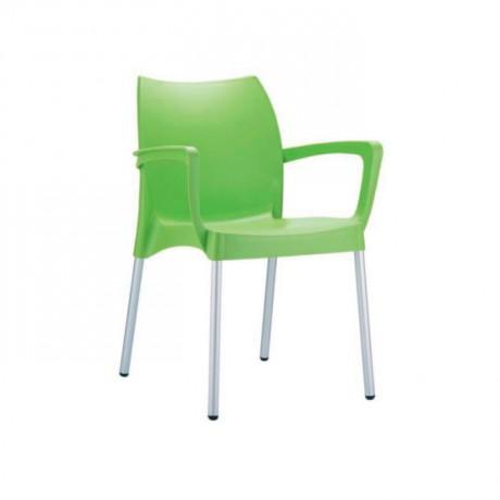 Fıstık Yeşil Alüminyum Ayak Kollu Dış Mekan Sandalyesi - pls30