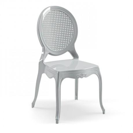 Oval Hazeran Sırtlı Dış Mekan ve İç Mekan Düğün Mutfak Cafe Sandalyesi - pls60