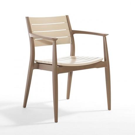 Kahverengi Plastik Dilimli Sırt ve Oturum Yüzeyli Plastik Sandalye - tpk98102b