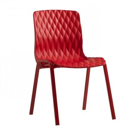 Kırmızı Baklava Plastik Enjeksiyon Sandalye