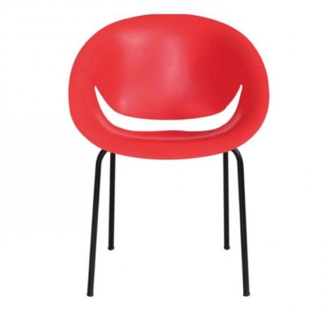Kırmızı Metal Ayak Otel Sandalyesi - pls52