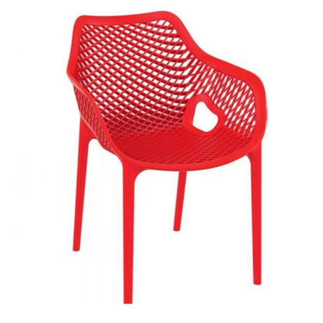Red Wired Injection Cafe Chair - pls28