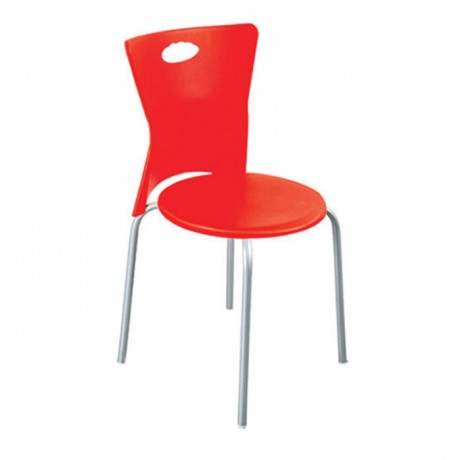 Red Plastic Outdoor Chair - pls25