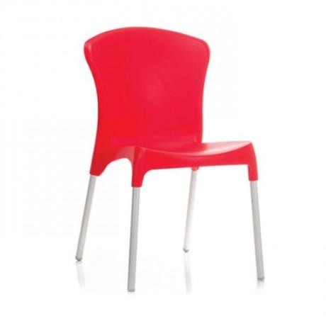 Kırmızı Plastik İç Mekan Sandalye - pls40