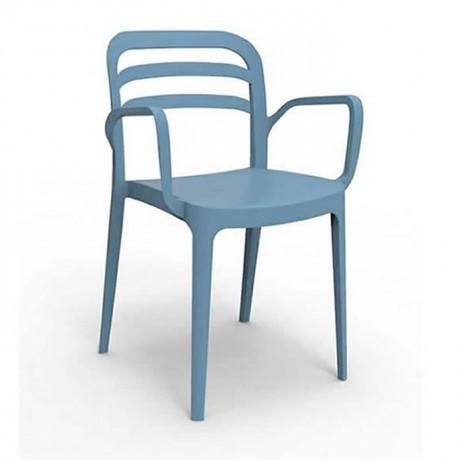Mavi Kollu Plastik Otel Cafe Restoran Chair - pls177