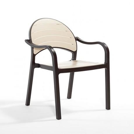 Oval Sırtlı Plastik Sandalye - tpk98100b
