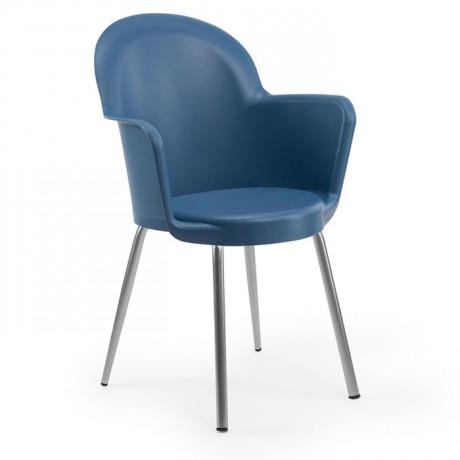 Metal Ayaklı İç ve Dış Mekan Siyah Otel Restoran Cafe Ev Plastik Enjeksiyon Sandalye - tps9915