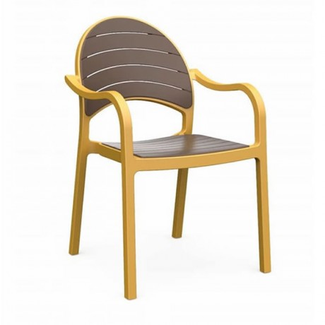 Sarı Antrasit Renkli Kollu Sandalye