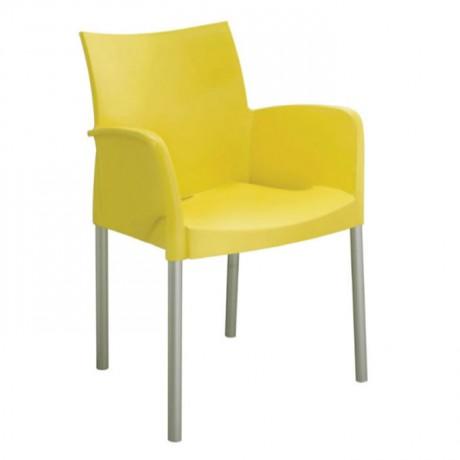 Sarı Kollu Plastik Otel Sandalyesi - pls54