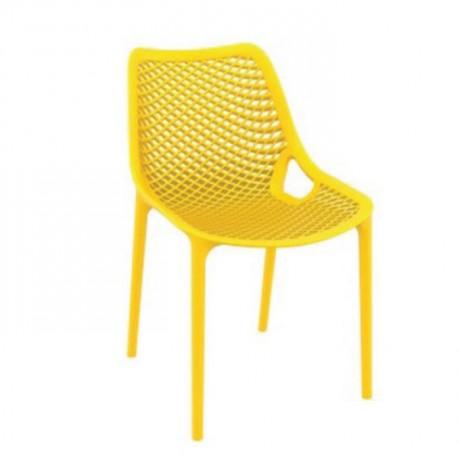 Sarı Örme Bahçe Sandalyesi - pls29