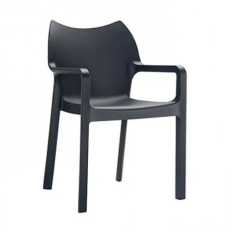 Siyah Bahçe Plastik Sandalyesi - pls31